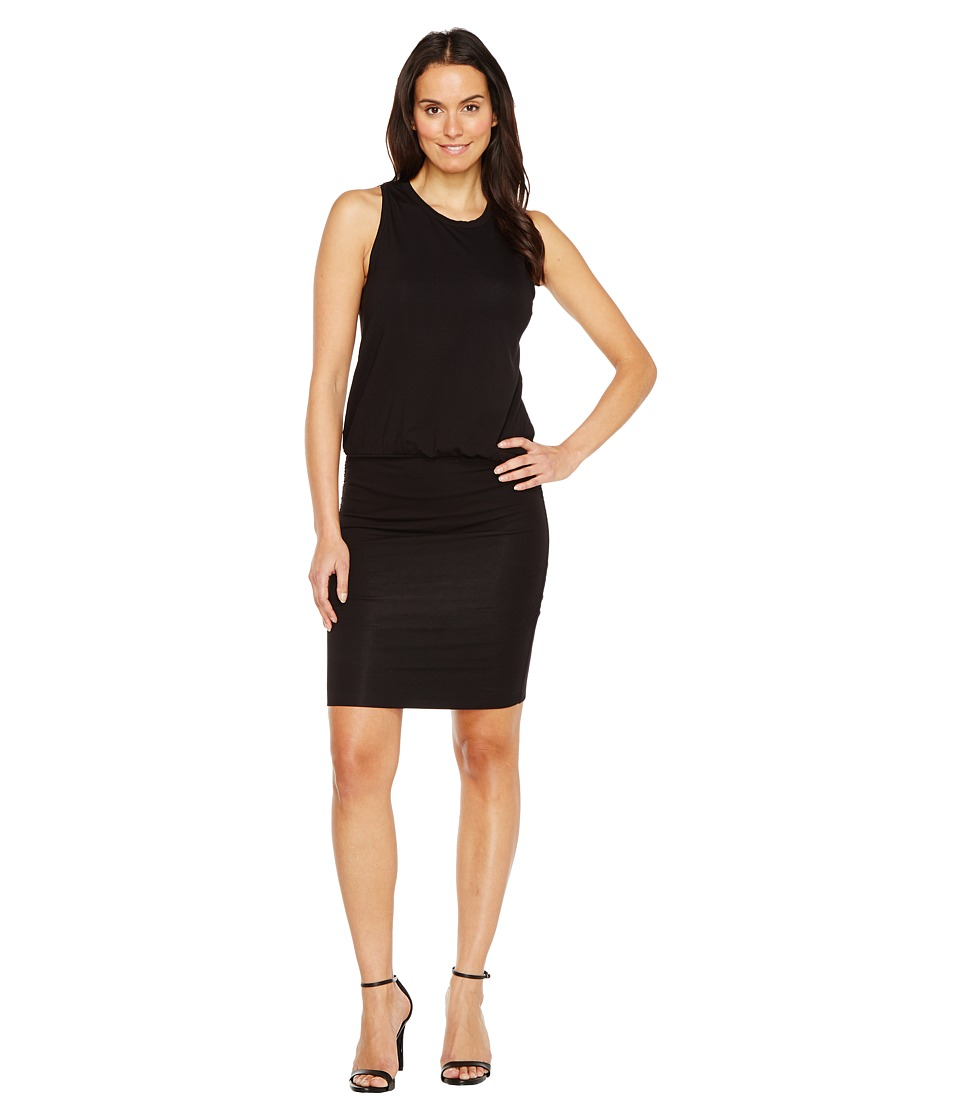 Lilla P Ruched Skirt Tank Dress (Black) Women