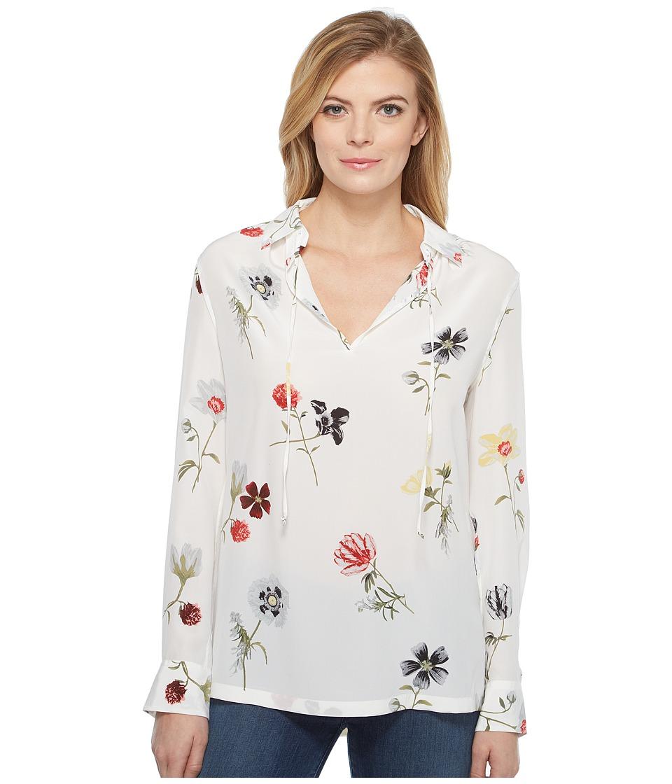 EQUIPMENT - Bristol Q2801-E872 (Bright White Multi) Women's Blouse