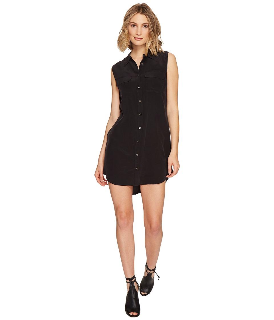 EQUIPMENT - Sleeveless Slim Signature Dress (True Black) Women's Dress