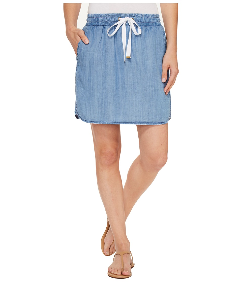 Lilla P - Pull-On Skirt (Denim Blue) Women's Skirt