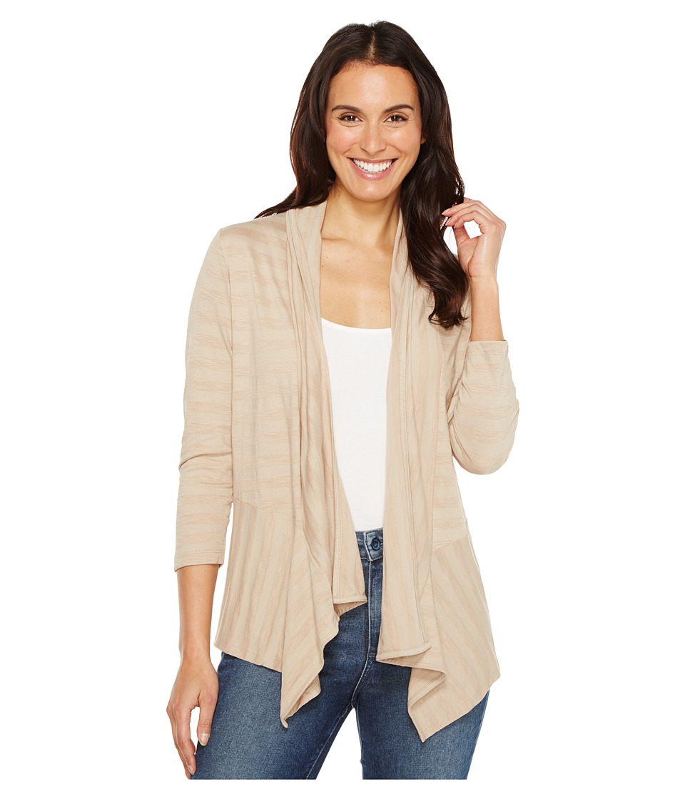 Lilla P - 3/4 Sleeve Open Cardigan (Beechwood) Women's Sweater