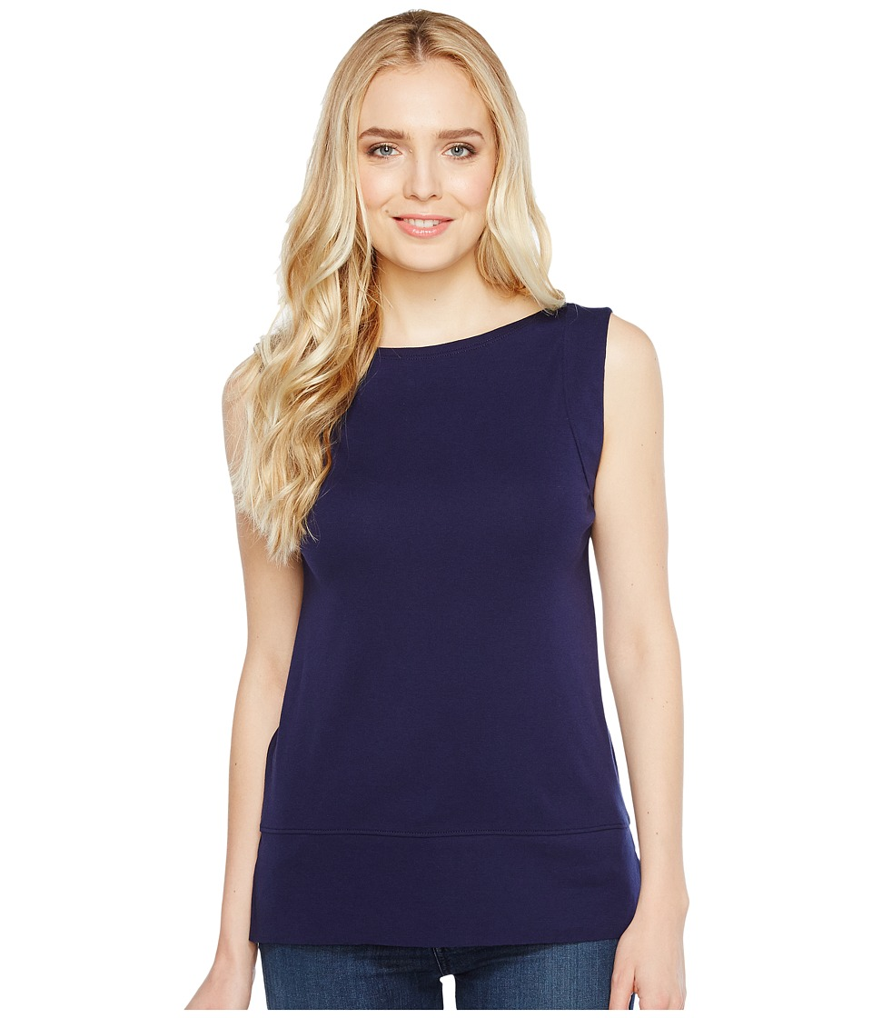 Lilla P - Seamed Shell (Navy) Women's Sleeveless