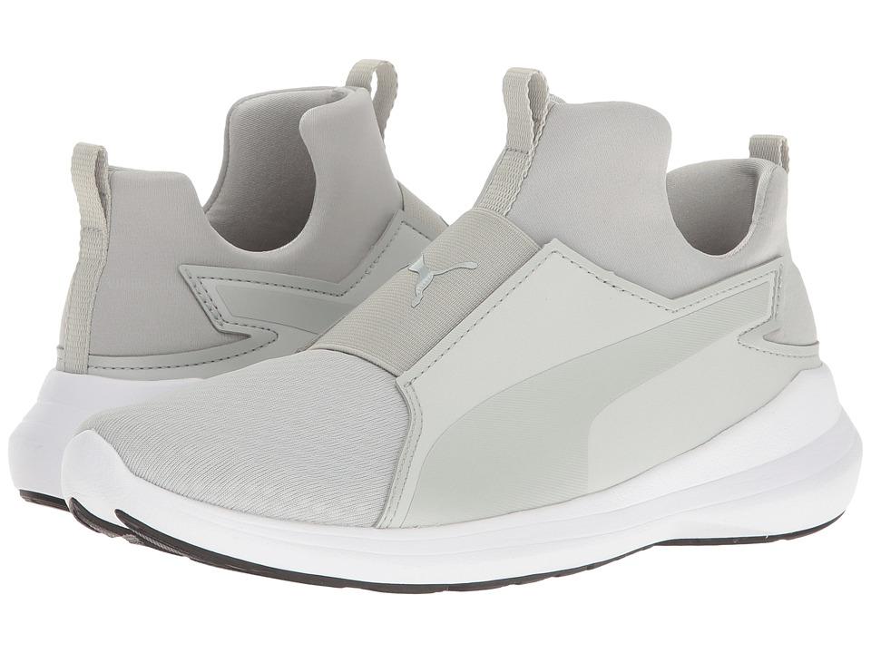 PUMA - Puma Rebel Mid (Gray Violet/Gray Violet/Puma White) Women's Slip on Shoes