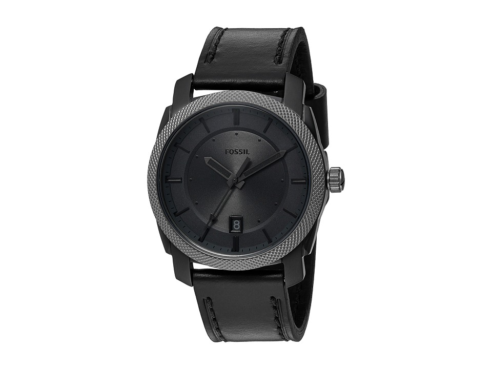 Fossil - Machine Leather - FS5265 (Gunmetal) Watches