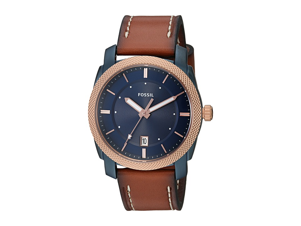 Fossil - Machine Leather - FS5266 (Blue) Watches