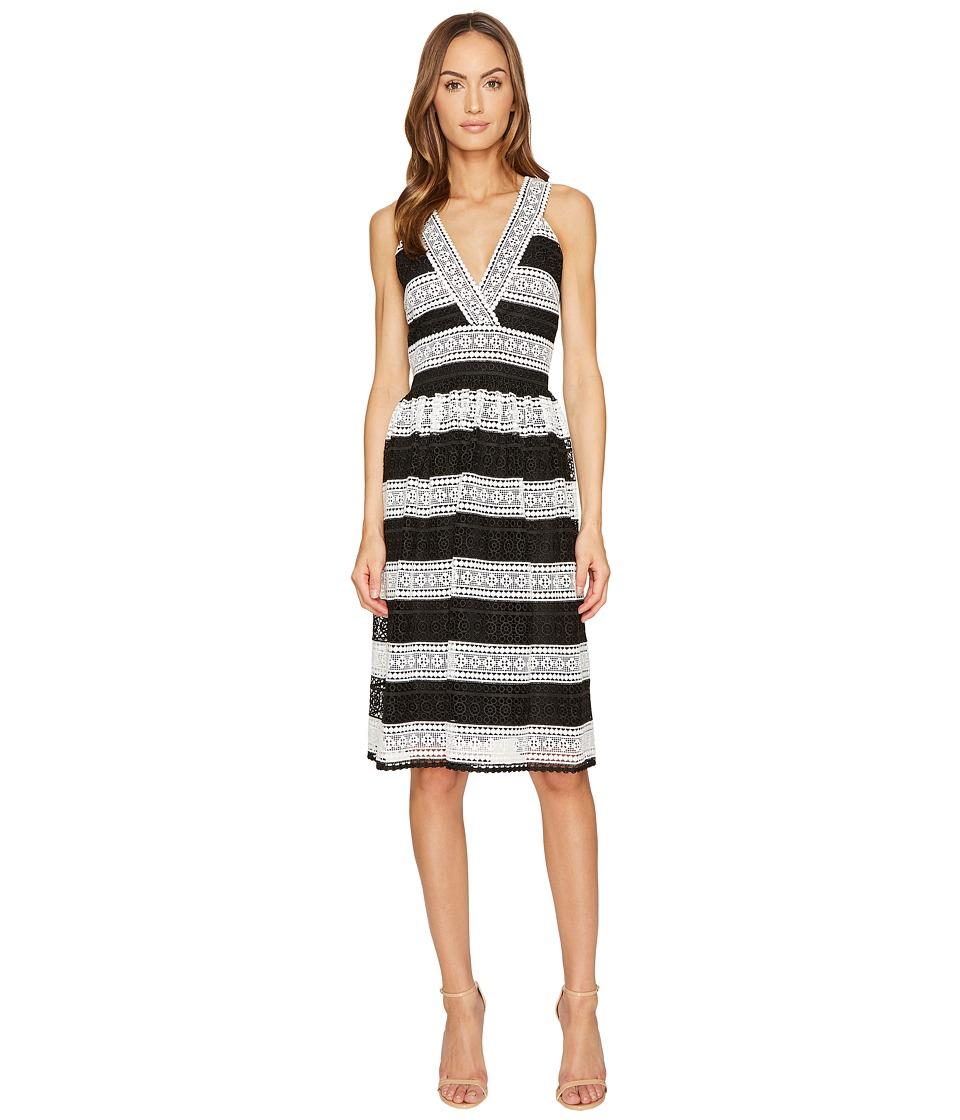 Kate Spade New York Color Block Lace Dress (Black/Cream) Women