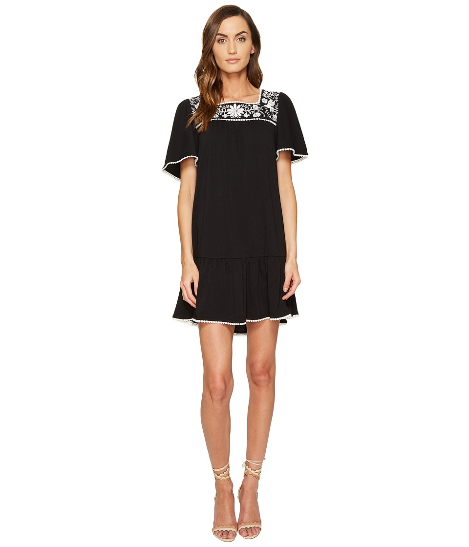 Kate Spade New York - Embroidered Dress (Black) Women's Dress