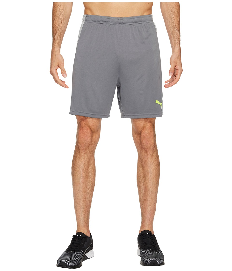 PUMA - Evotrg Shorts (Quiet Shade/Quarry/Safety Yellow) Men's Shorts