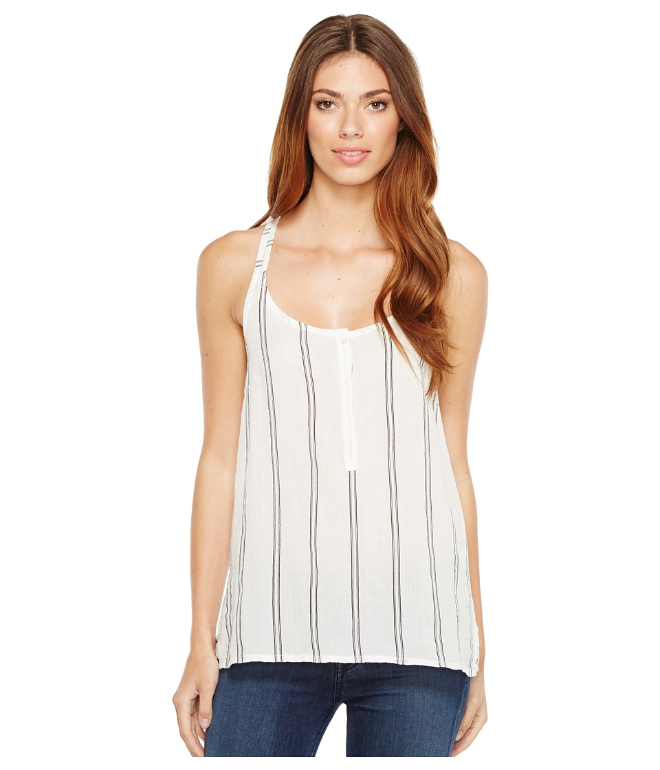 Lilla P - Cross Back Camisole (Navy Stripe) Women's Sleeveless