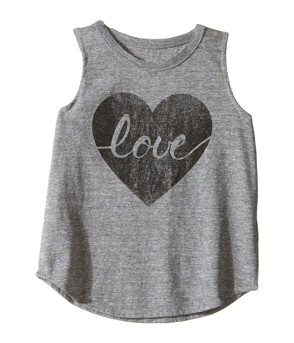 Chaser Kids - Tri-Blend Muscle Tank (Toddler/Little Kids) (Heart Love) Girl's T Shirt
