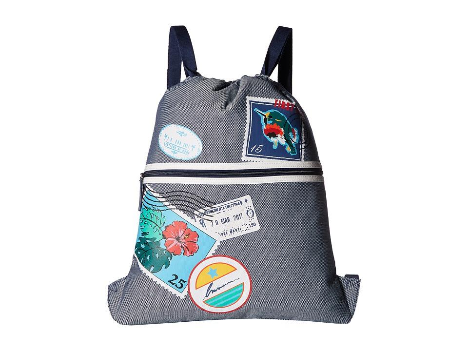 Vera Bradley - Beach Backsack (Oxford Postage Stamps) Backpack Bags