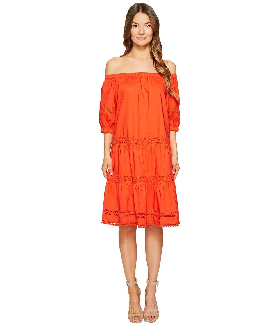 Kate Spade New York Poplin Off the Shoulder Dress