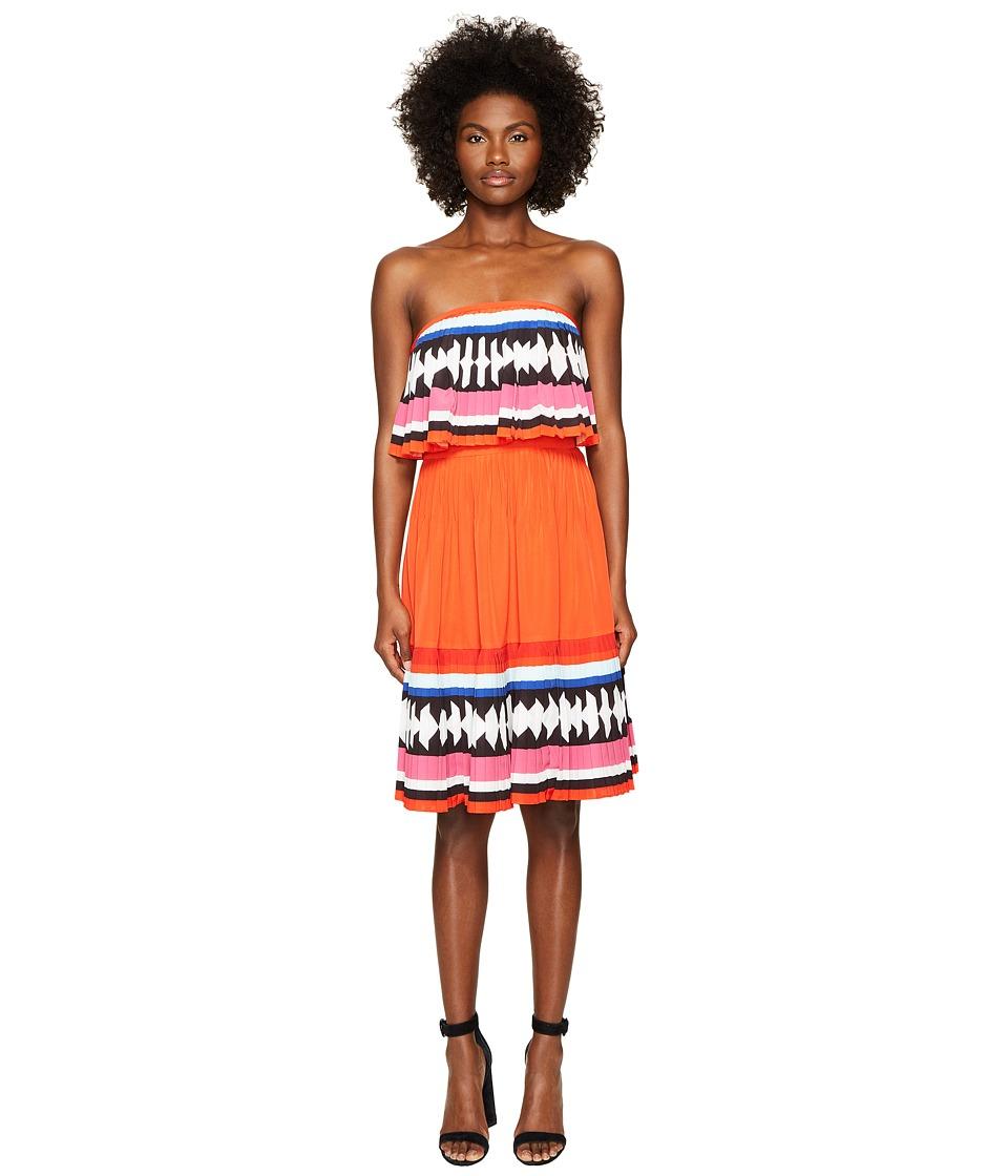 Kate Spade New York - Geo Border Pleated Dress (Multi) Women's Dress