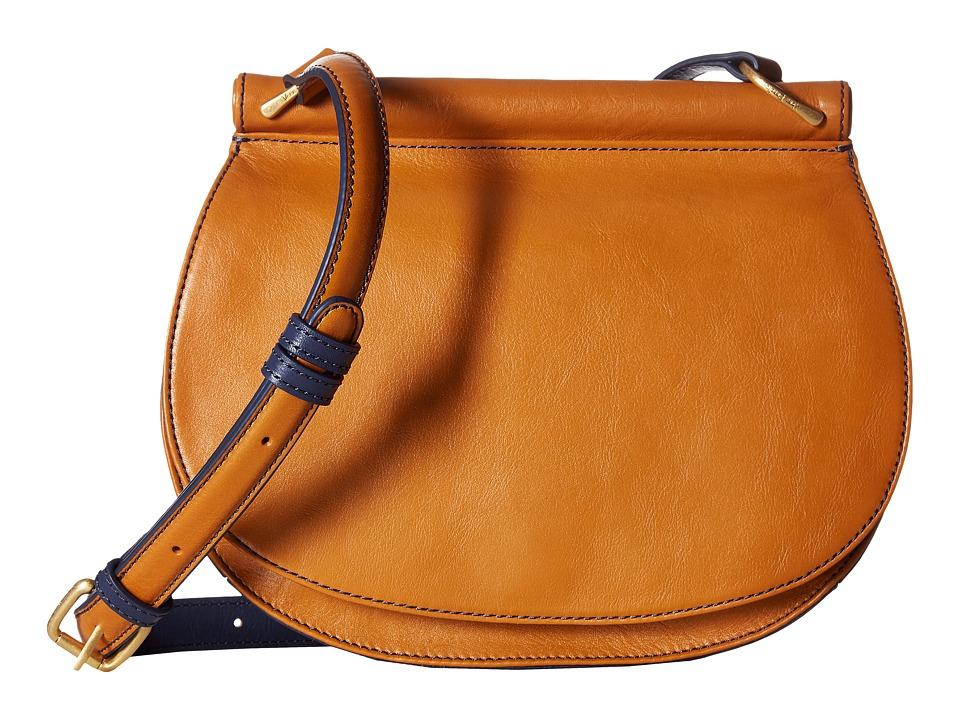 Vera Bradley - Sidesaddle Crossbody (Golden Tan) Cross Body Handbags