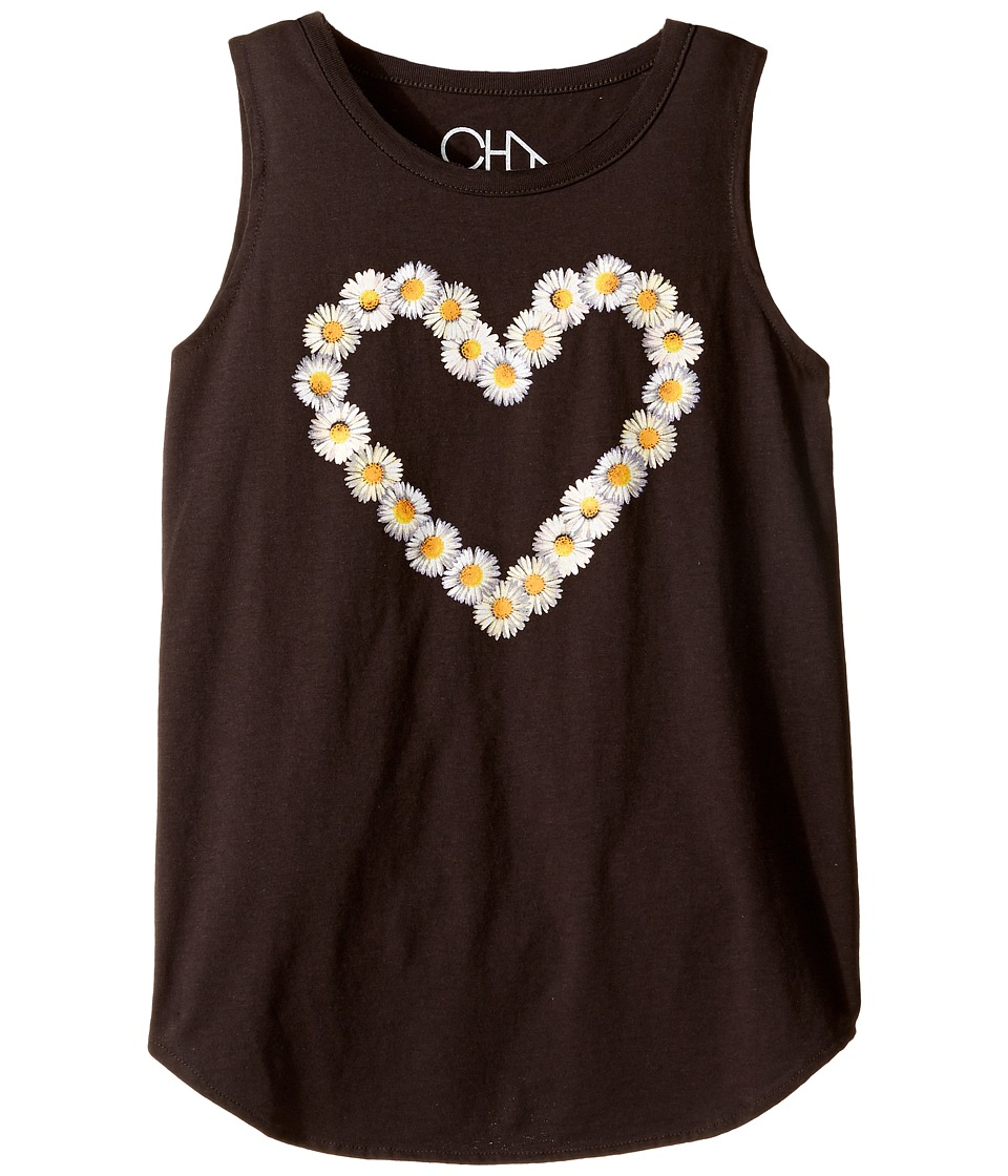 Chaser Kids - Vintage Muscle Tank (Little Kids/Big Kids) (Daisy Heart) Girl's Clothing