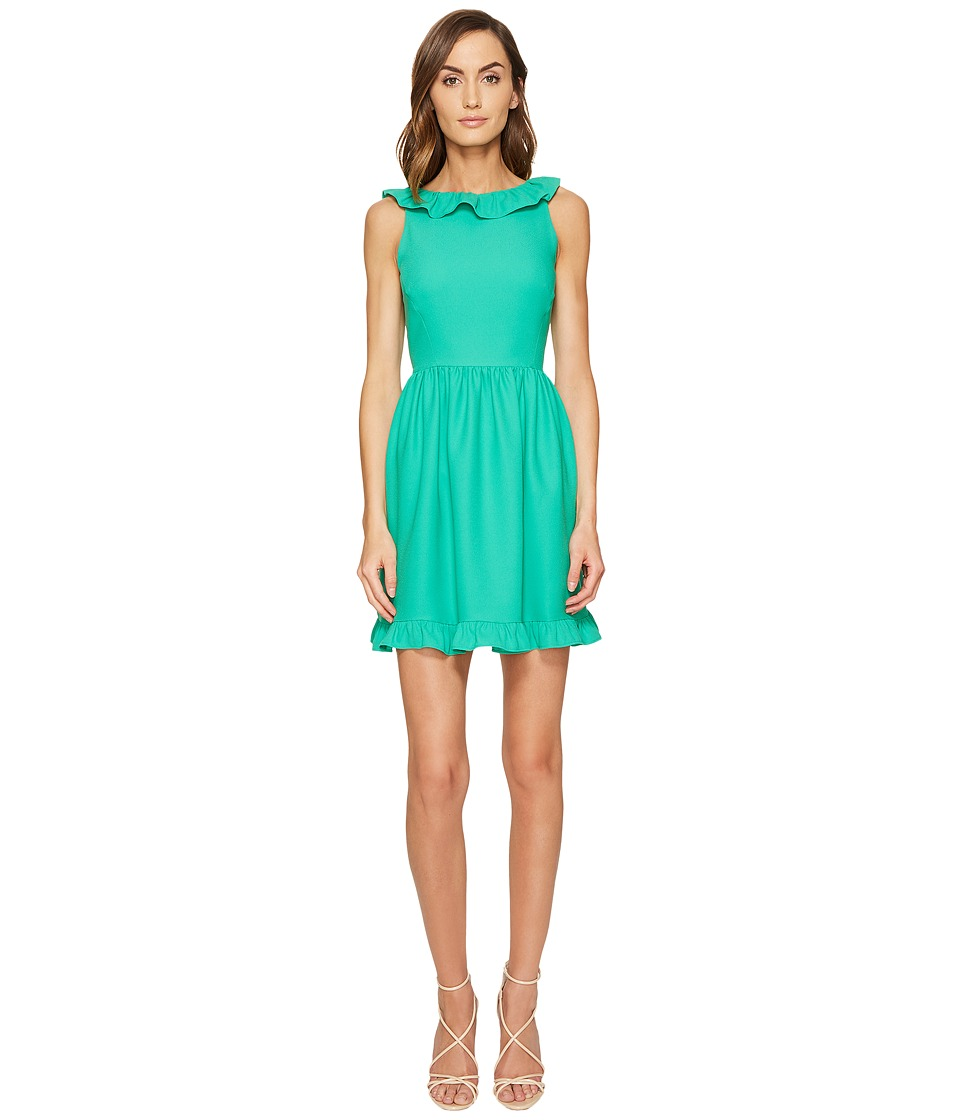 Kate Spade New York - Ruffle Back Mini Dress (Beryl Green) Women's Dress
