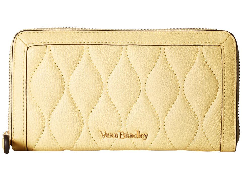 Vera Bradley - RFID Quilted Georgia Wallet (Banana) Wallet Handbags