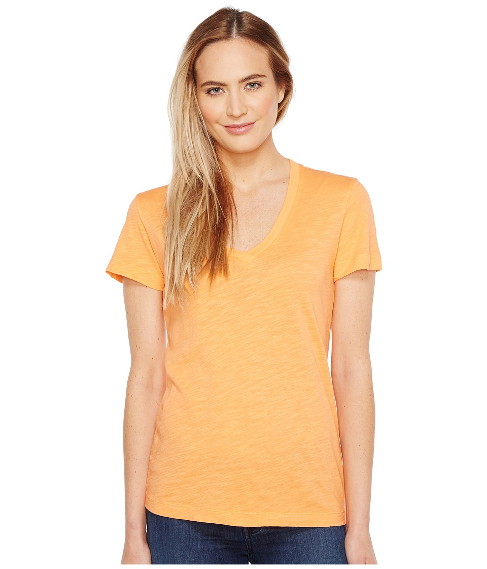 Mod-o-doc - Slub Jersey Short Sleeve V-Neck Tee (Mandarin) Women's Short Sleeve Pullover