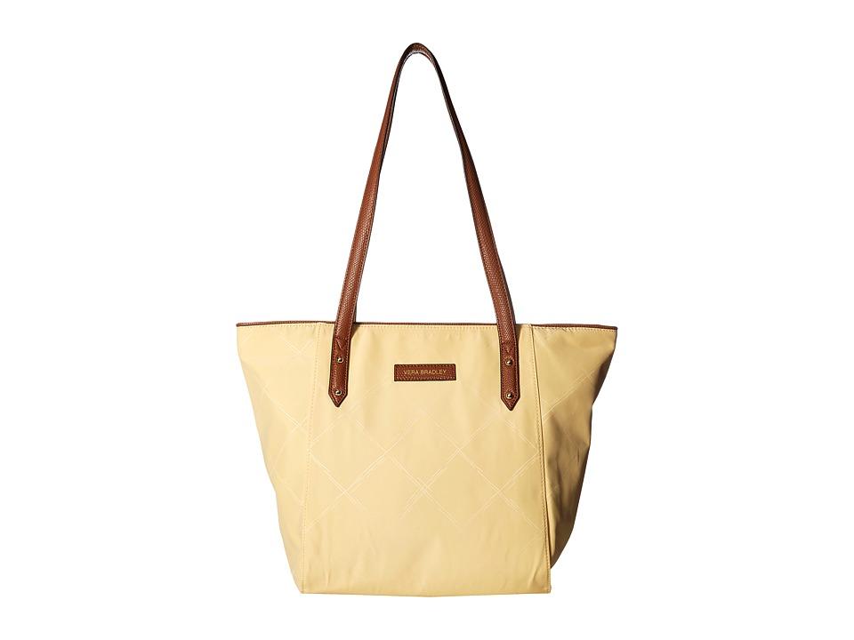 Vera Bradley - Preppy Poly Small Ella Tote (Banana) Tote Handbags