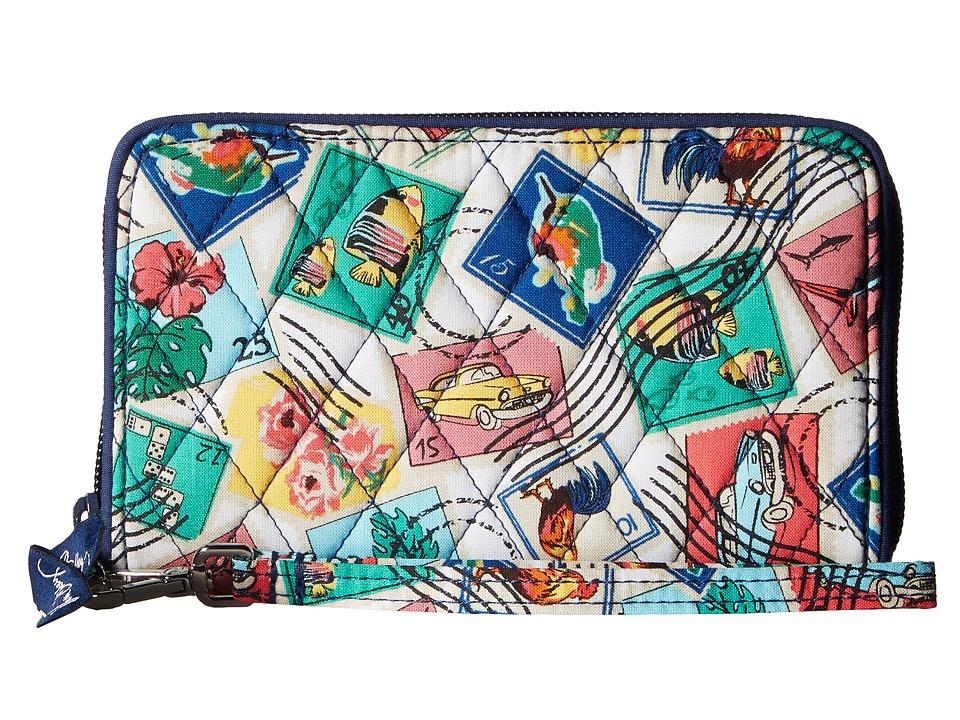 Vera Bradley - RFID Grab Go Wristlet (Cuban Stamps) Wristlet Handbags
