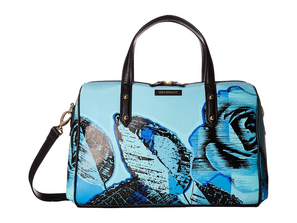 Vera Bradley - Marlo Satchel (Blue Havana Rose) Satchel Handbags