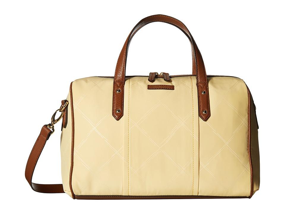 Vera Bradley - Preppy Poly Marlo Satchel (Banana) Satchel Handbags