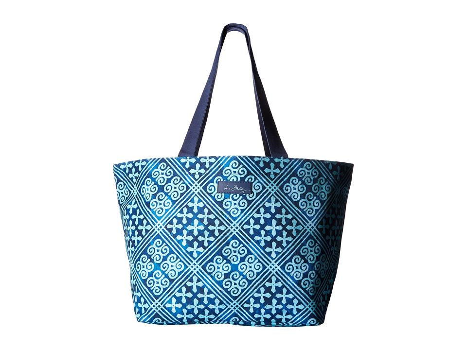 Vera Bradley - Drawstring Family Tote (Cuban Tiles) Tote Handbags