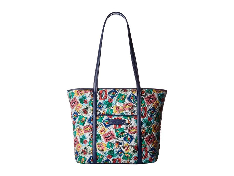 Vera Bradley - Small Trimmed Vera (Cuban Stamps) Tote Handbags