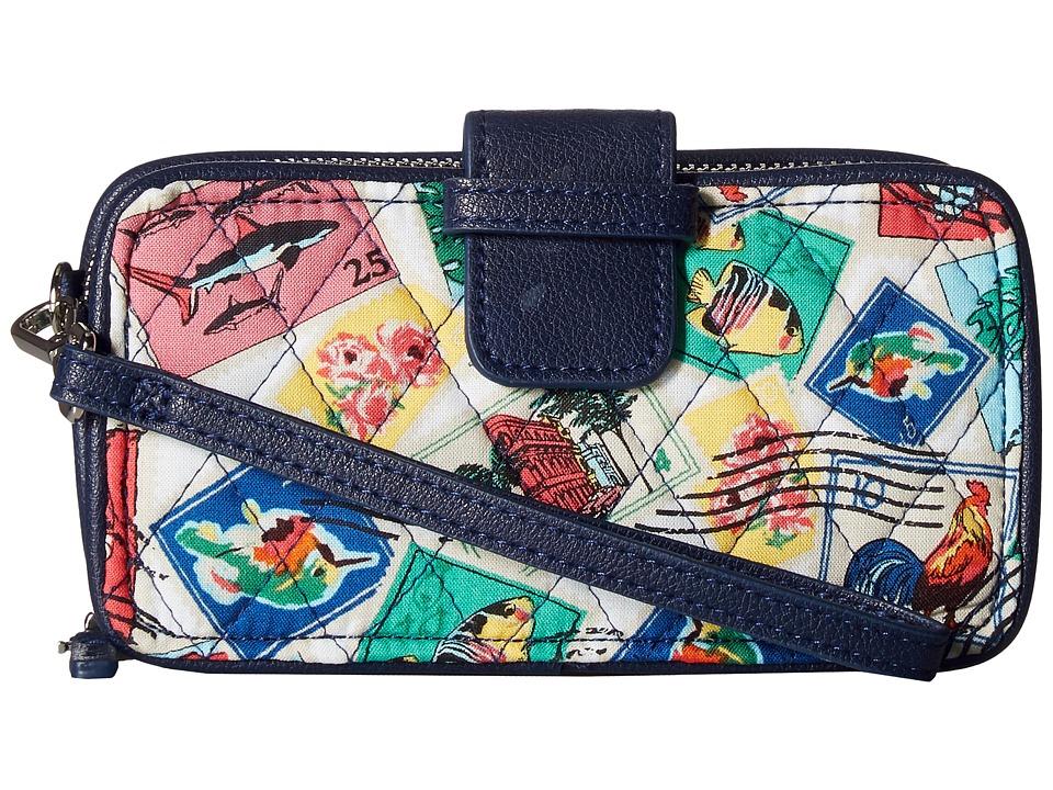 Vera Bradley - RFID Smartphone Wristlet (Cuban Stamps) Wristlet Handbags