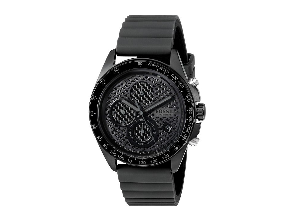 Fossil - Sport 54 Silicone - CH3080 (Black/Gunmetal) Watches