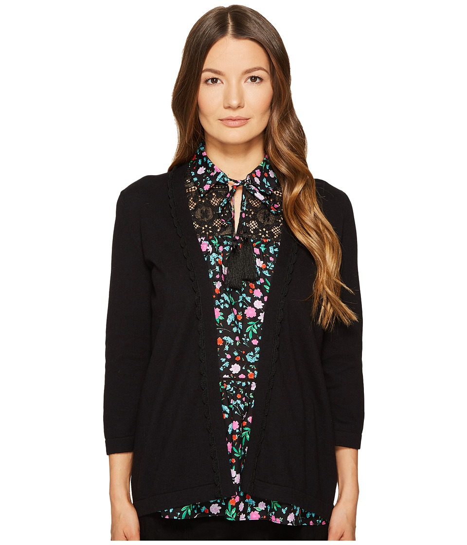Kate Spade New York - Open Cardigan (Black 1) Women's Sweater