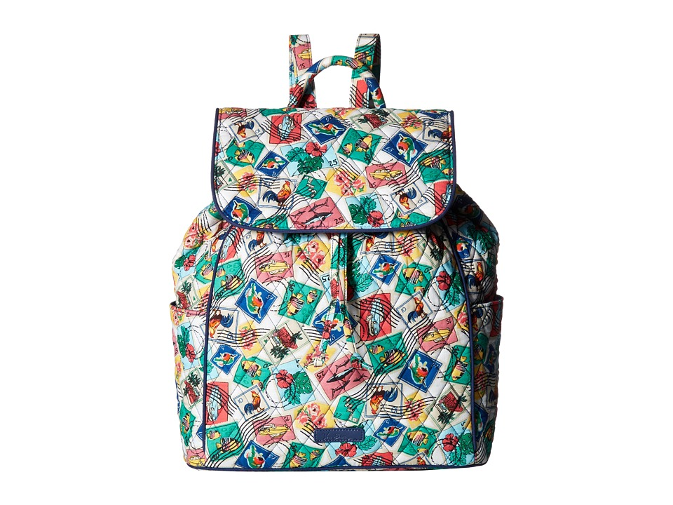 Vera Bradley - Drawstring Backpack (Cuban Stamps) Backpack Bags