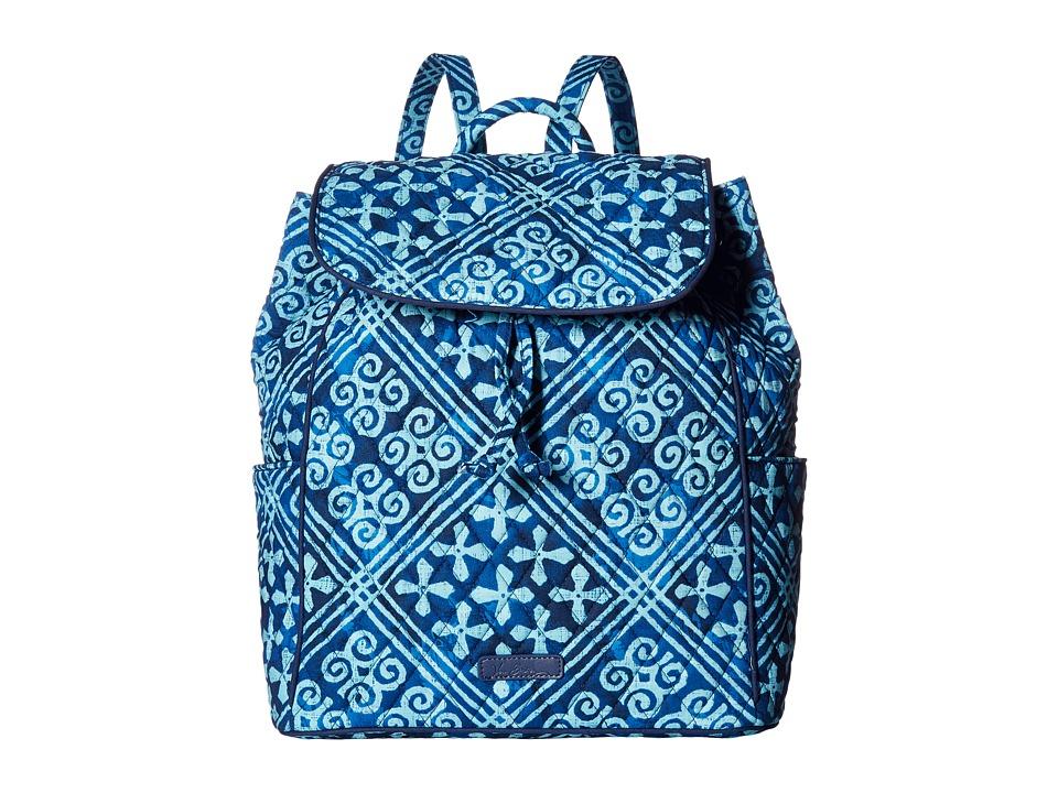 Vera Bradley - Drawstring Backpack (Cuban Tiles) Backpack Bags