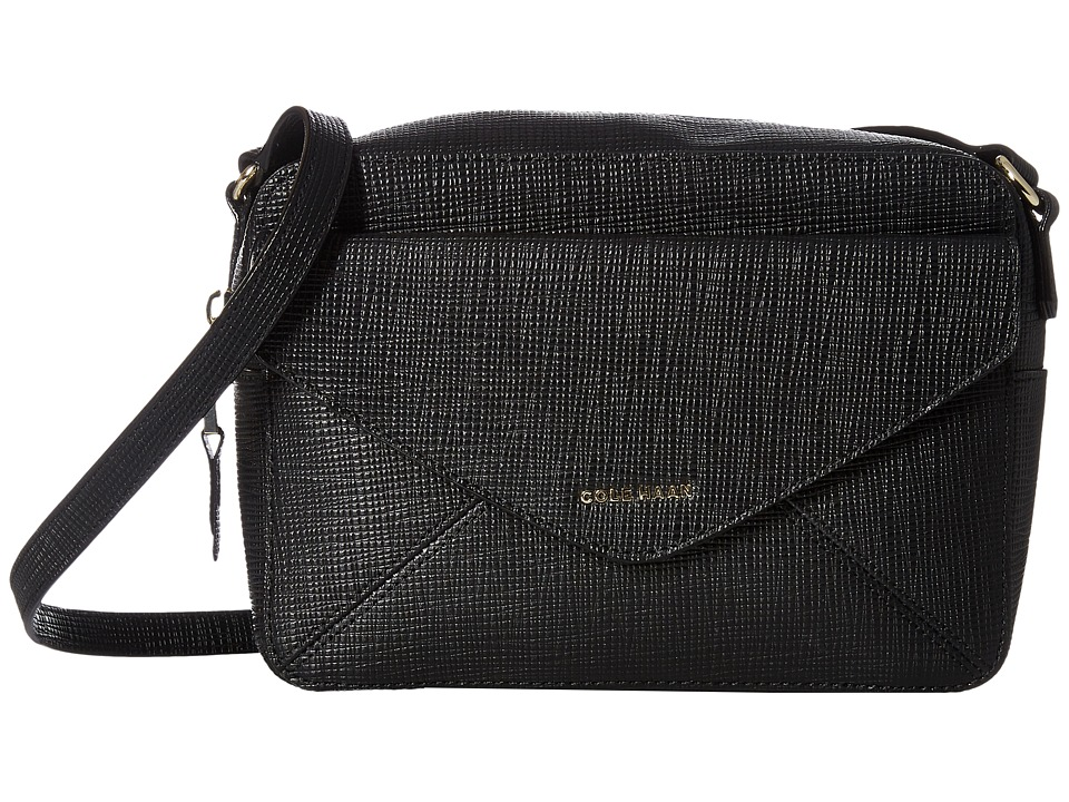 Cole Haan - Abbot Flap Crossbody (Black) Cross Body Handbags