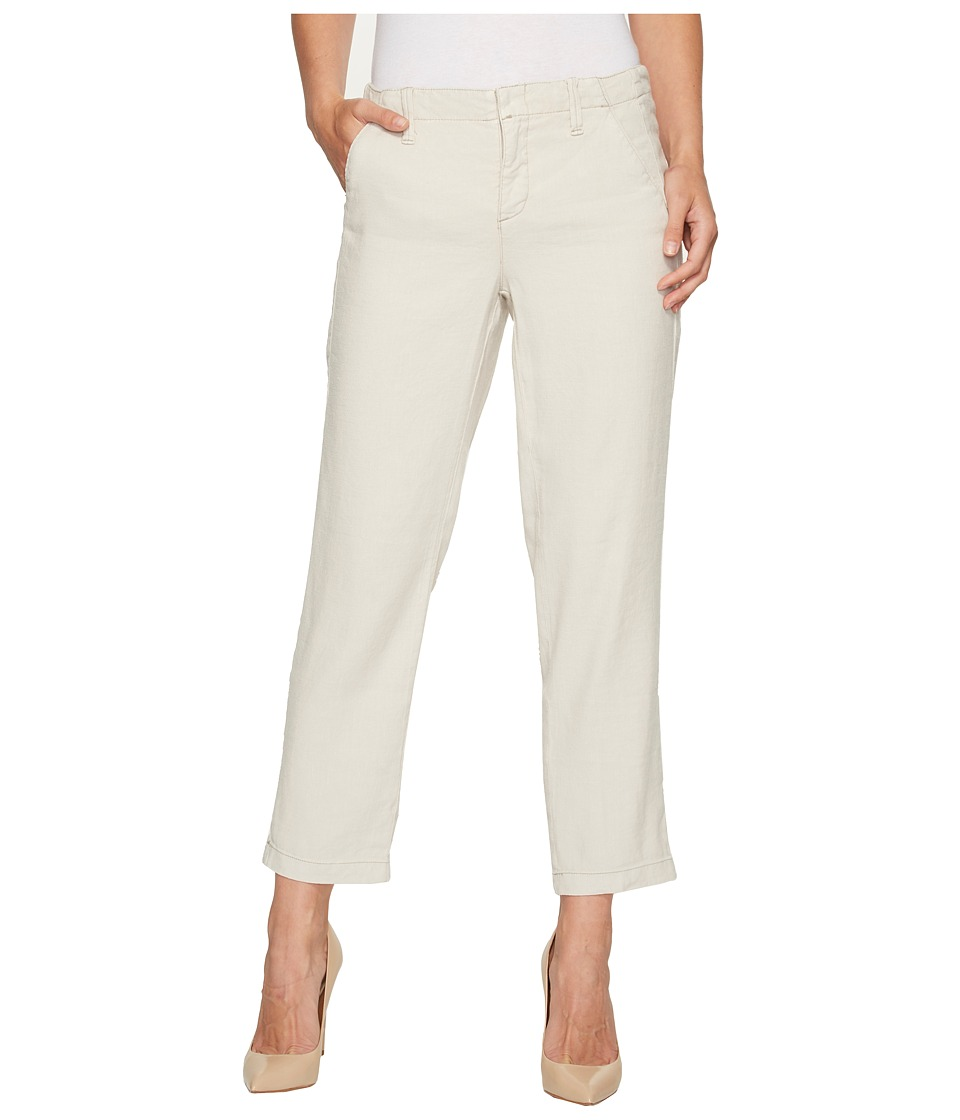 NYDJ - Slim Stretch Linen Trousers (Stone) Women's Casual Pants
