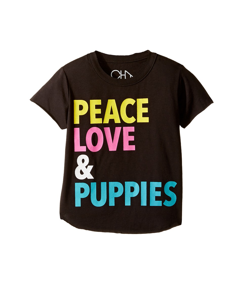 Chaser Kids - Vintage Jersey Tee (Toddler/Little Kids) (Peace Love & Puppies) Girl's T Shirt