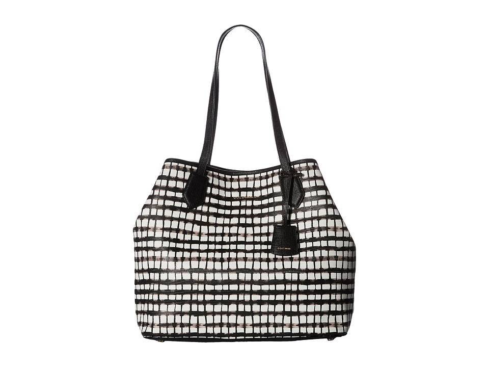 Cole Haan - Abbot Tote (Black/White Plaid) Tote Handbags