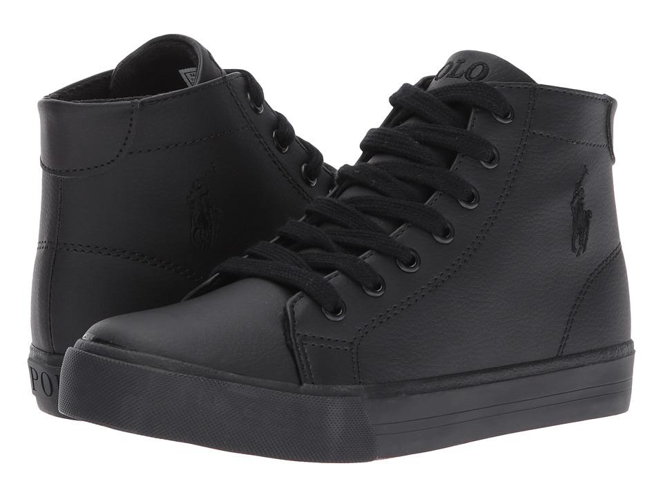 Polo Ralph Lauren Kids - Slater Mid (Big Kid) (Triple Black Tumbled) Kid's Shoes
