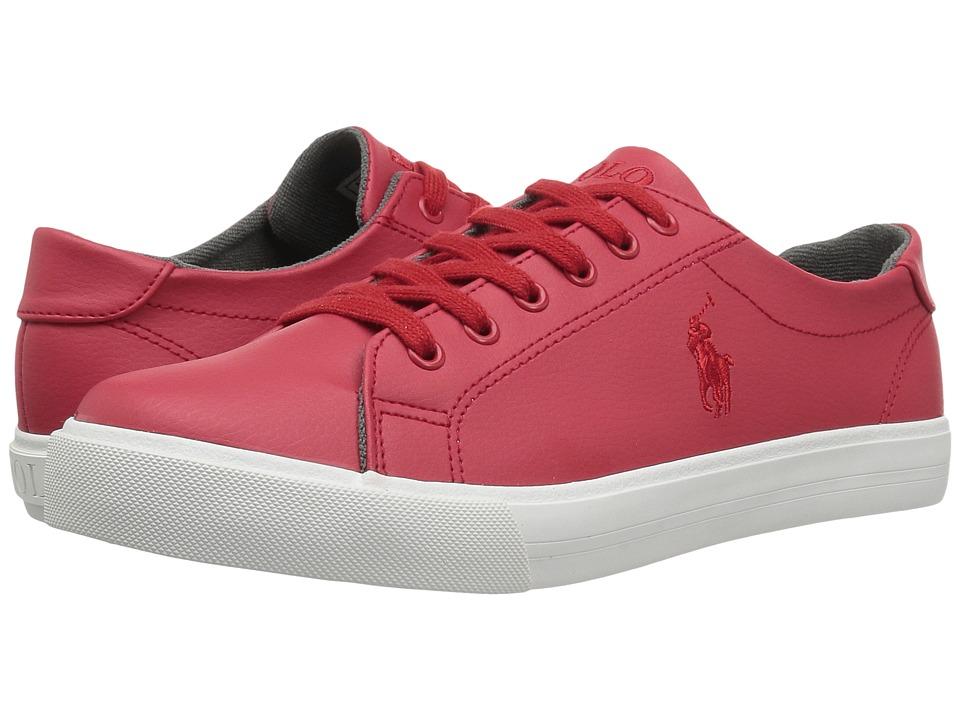 Polo Ralph Lauren Kids - Slater (Big Kid) (Red Tumbled/Red PP) Kid's Shoes