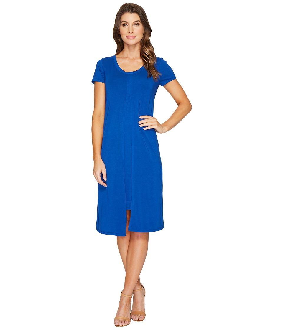 Mod-o-doc Cotton Modal Spandex Jersey Short Sleeve Flyaway Layered T-Shirt Dress