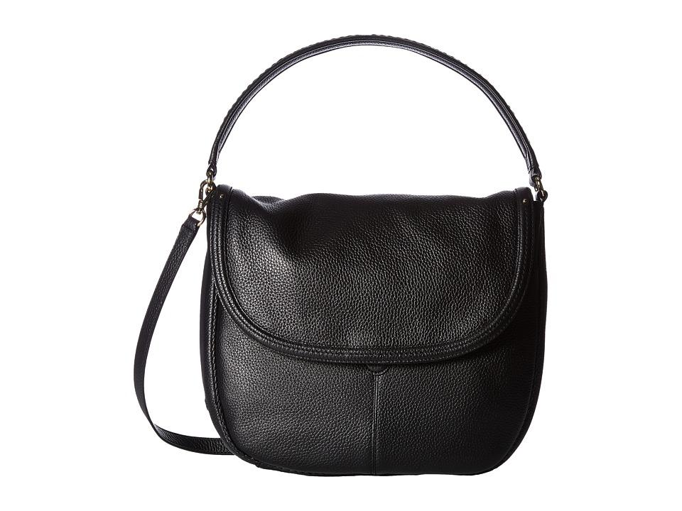 Cole Haan - Tali Double Strap Saddle (Black) Handbags