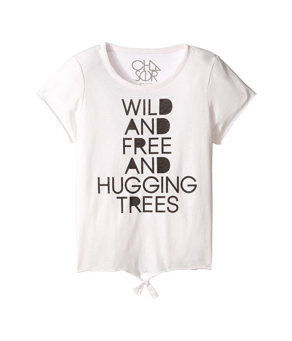 Chaser Kids - Vintage Tie Front Tee (Little Kids/Big Kids) (Wild and Free) Girl's Clothing
