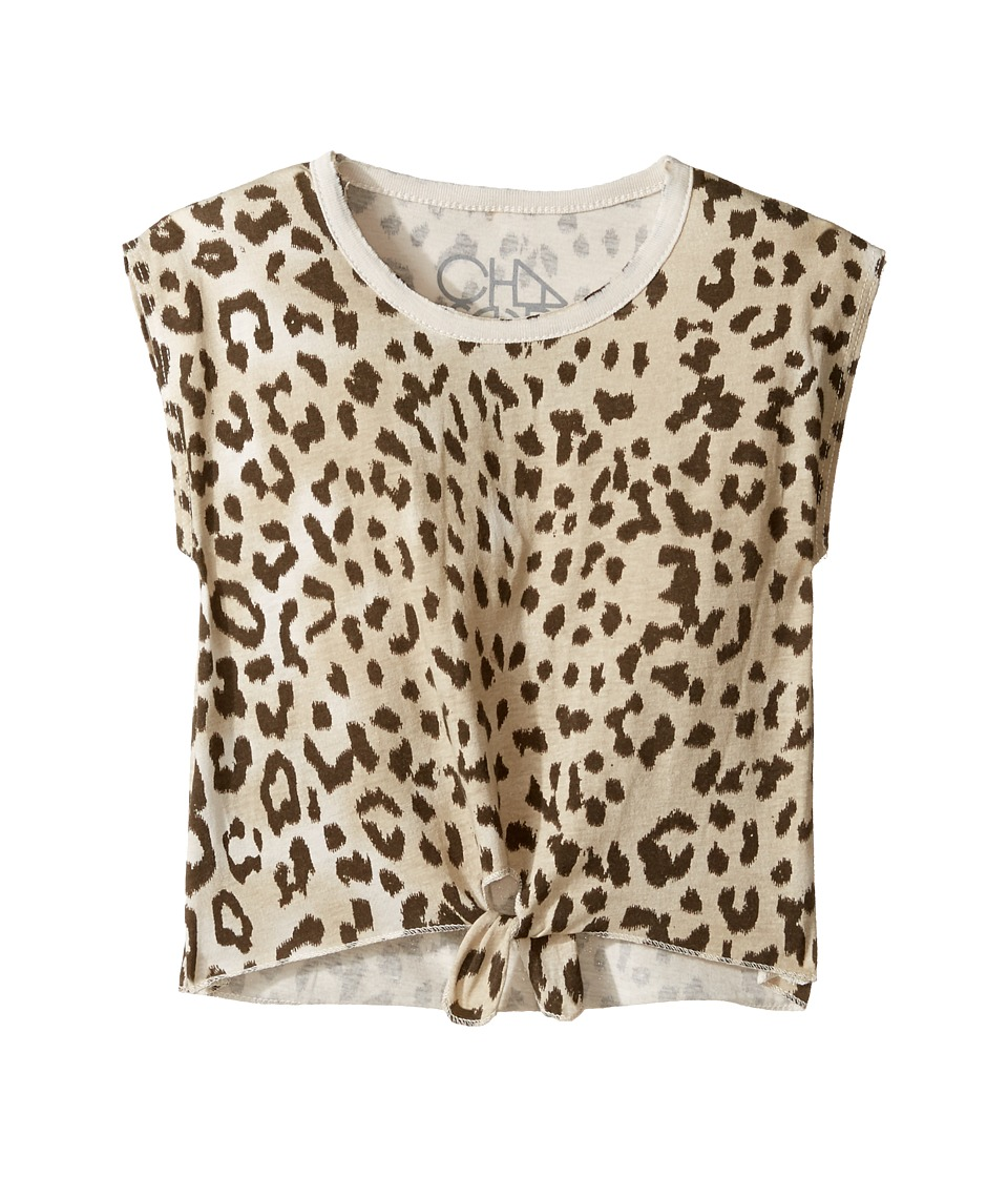 Chaser Kids - Super Soft Vintage Jersey Tie Front Cap Sleeve Tee (Toddler/Little Kids) (Animal) Girl's T Shirt