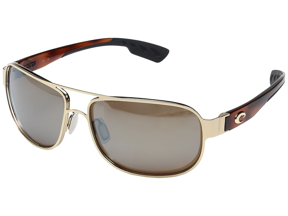 Costa - Conch (Rose Gold/Light Tortoise Temples/Silver Mirror Glass W580) Fashion Sunglasses