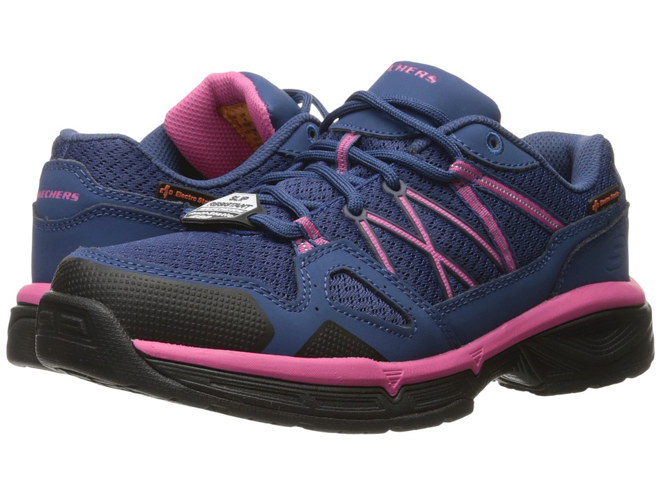 SKECHERS Work - Conroe - Abbenes ESD (Navy/Pink) Women's Shoes