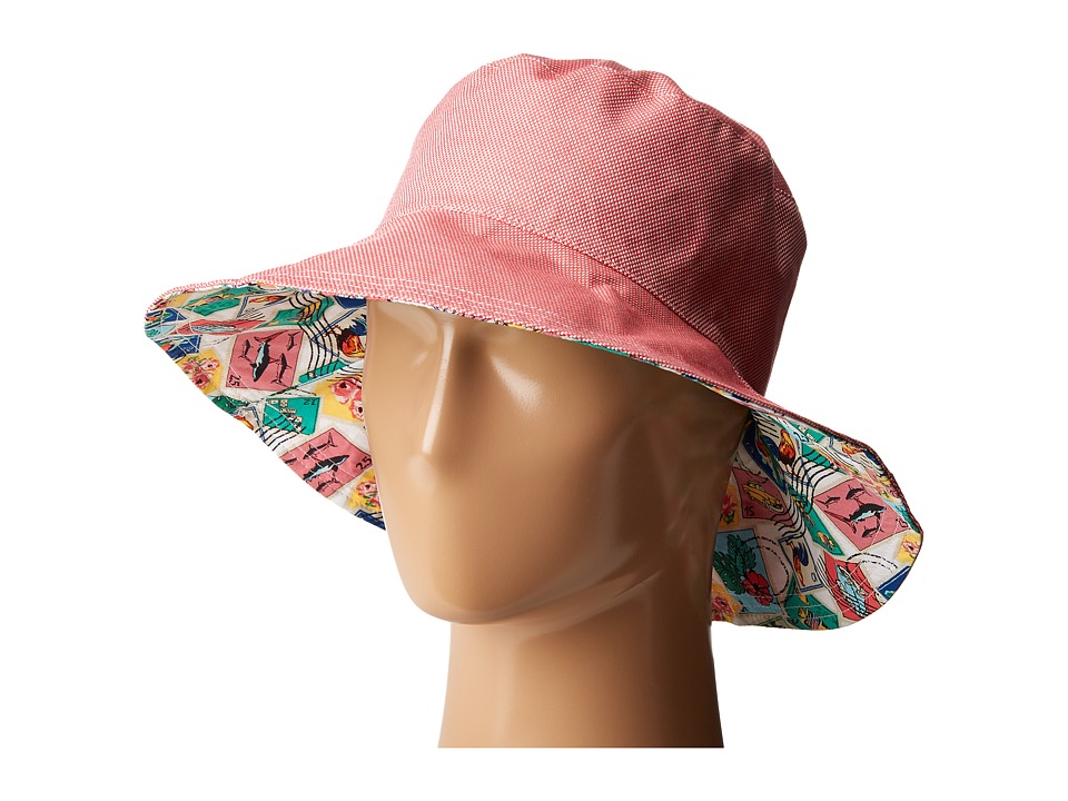 Vera Bradley - Beach Hat (Red Oxford) Caps