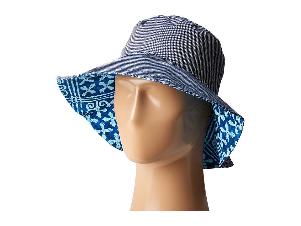 Vera Bradley - Beach Hat (Navy Oxford) Caps