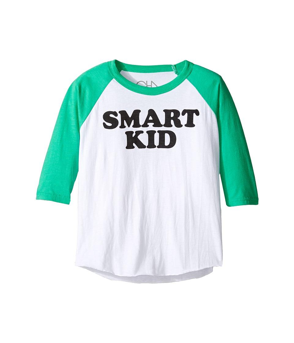 Chaser Kids - Vintage Baseball Tee (Little Kids/Big Kids) (Smart Kid) Boy's T Shirt