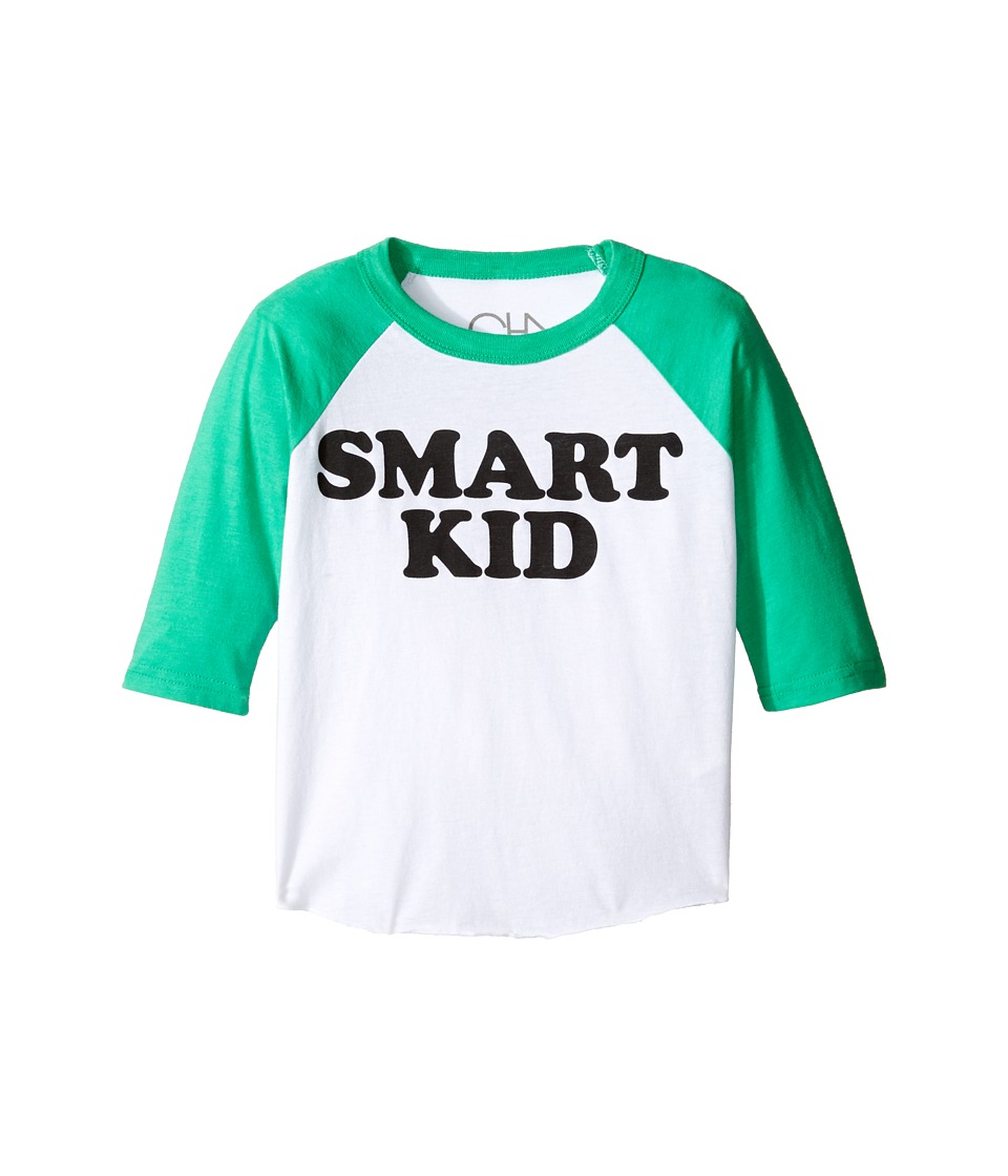 Chaser Kids - Vintage Baseball Tee (Toddler/Little Kids) (Smart Kid) Boy's T Shirt