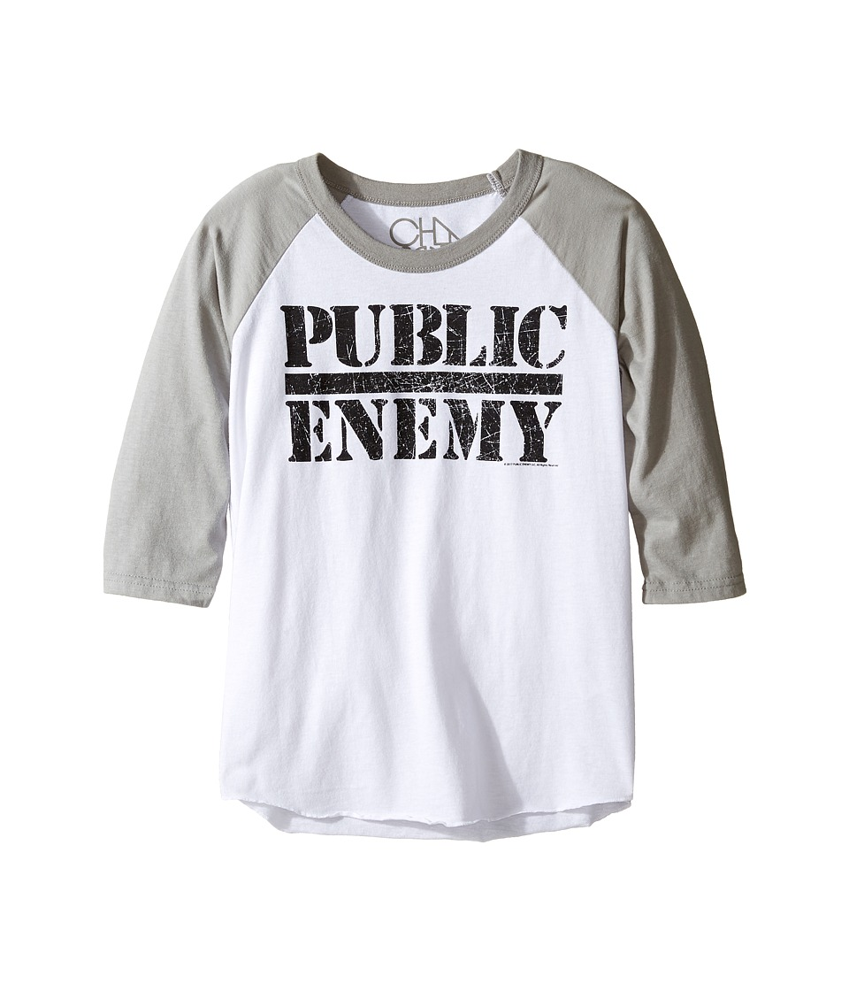 Chaser Kids - Vintage Baseball Tee (Little Kids/Big Kids) (Public Enemy) Boy's T Shirt